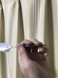 4フィンガーグリップの手の形