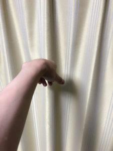 2フィンガースロー後の手の形