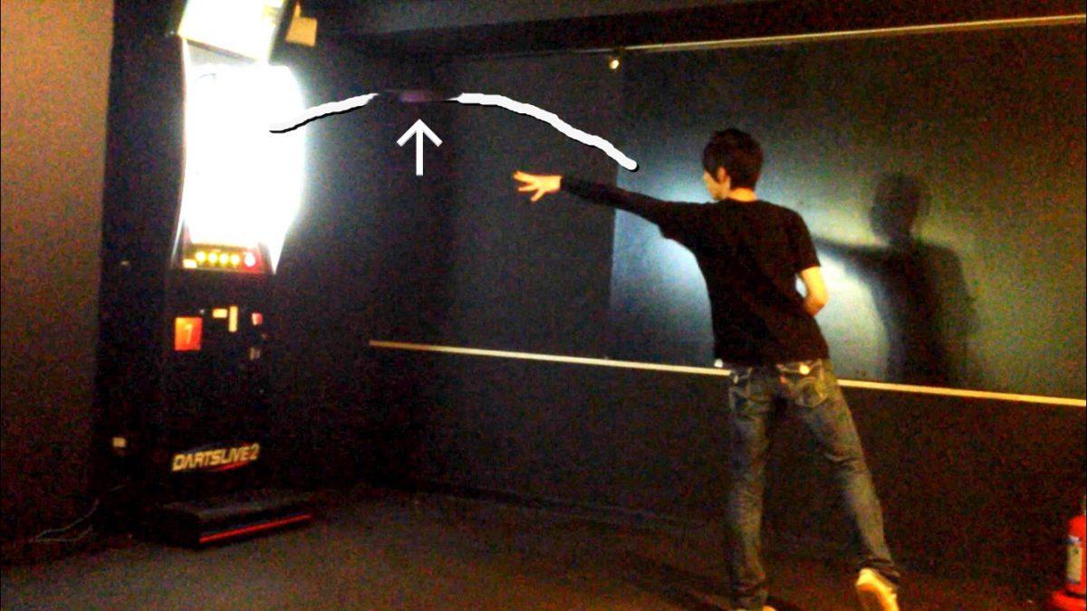 ダーツの軌道を確認した図