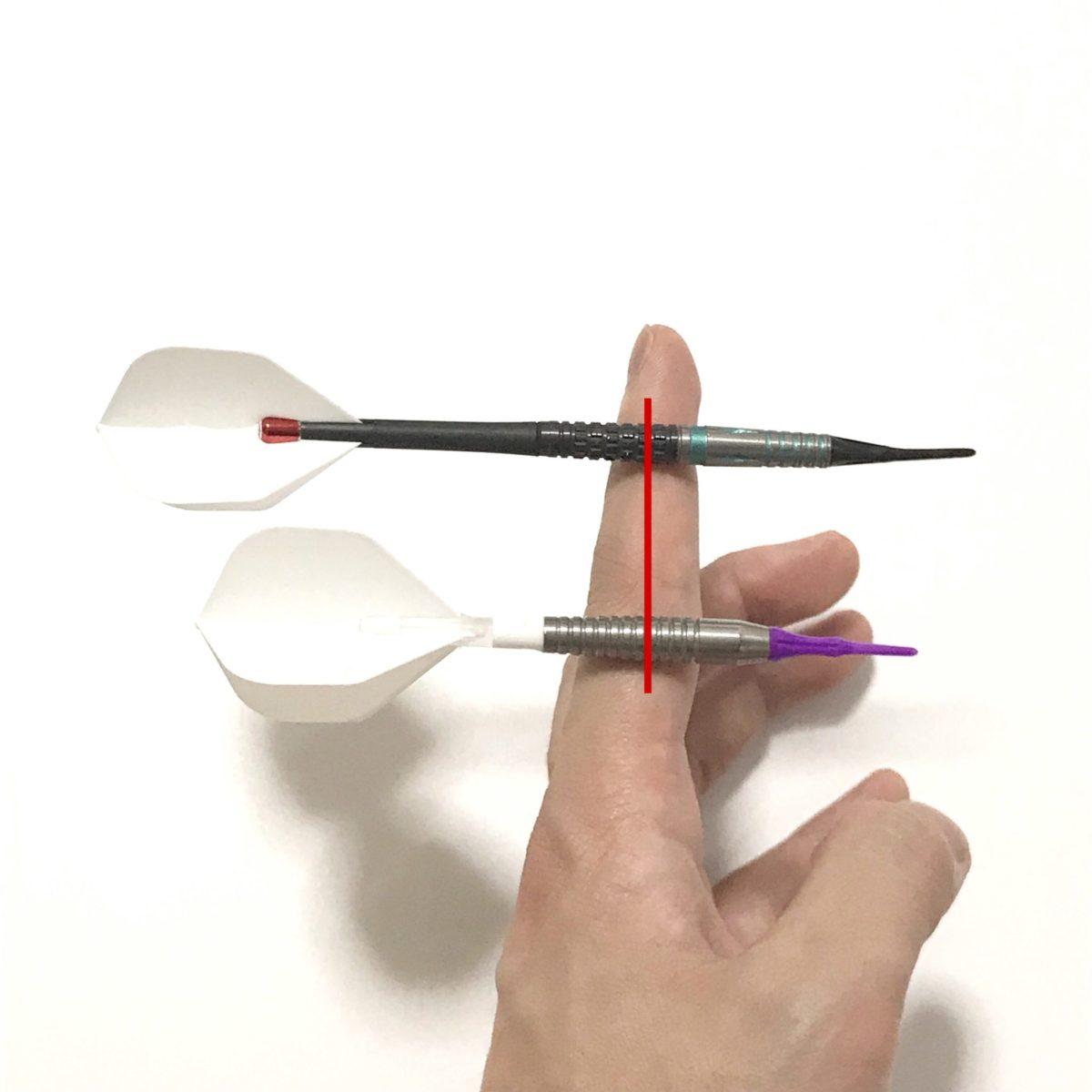 ダーツの重心位置の写真1